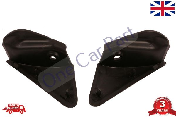 PAIR RENAULT MEGANE MK2 03-08 FRONT WING MIRROR FINISHER TRIM PANEL LEFT  RIGHT